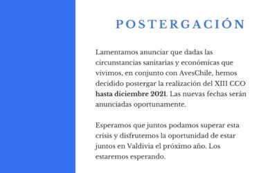 Postergación CCO 2020